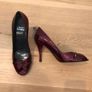 Brand New Stuart Weitzman Deep Ruby Heels